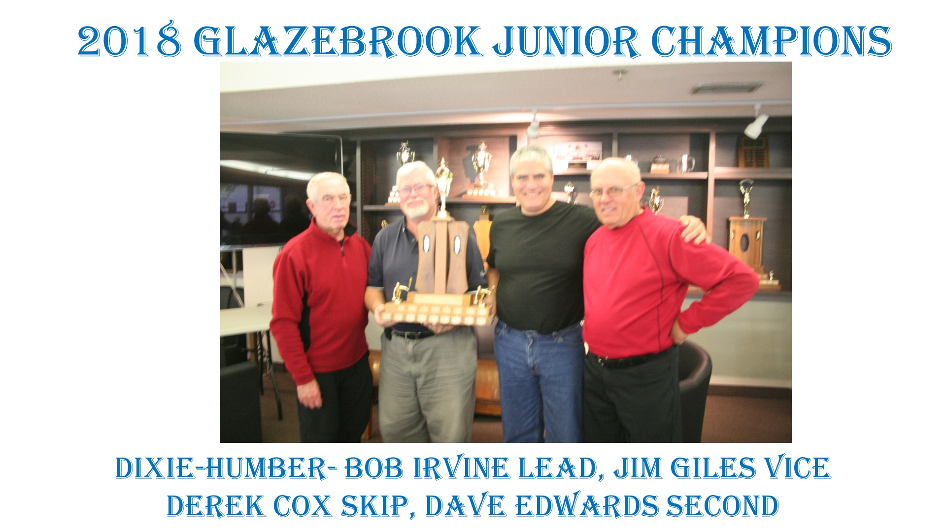2018 Glazebrook Junior Winners with names